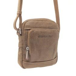 ARTHUR&ASTON Petite sacoche 1 compartiment en cuir Destroy CRISTIANO