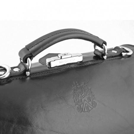 MUTSAERS - Serviette en cuir pour médecin 41cm  avec poches