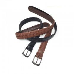 La compagnie des ceintures - Ceinture Homme cuir tressé